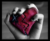 broken heart in the hand