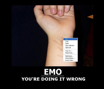 emo you re doing it wrong