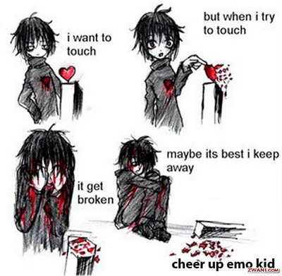 Animated cute emo kid