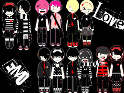 emo cartoon love. emo love myspace backgrounds