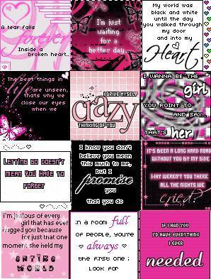 Pink Girlie Icons Collage