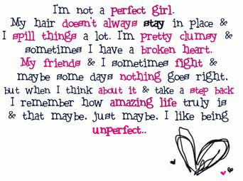 I'm Not Perfect Girl