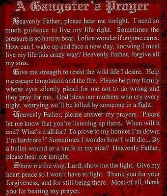 a gangster s prayer