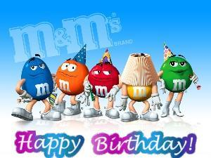 happy birthday - m&m s