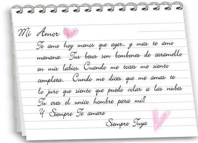 Love note (spanish)