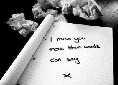 i miss you more than words can say