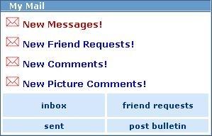 Myspace New Messages