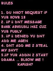 Myspace Rules