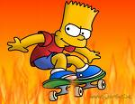 Bart Simpson Skating
