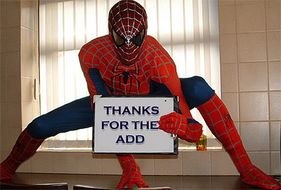 Thanks For The Add Spiderman