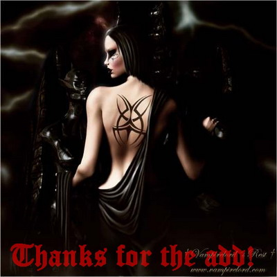 Thanks For The Add !Goth girl