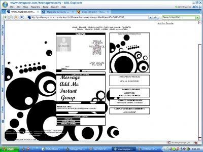 Retro Circles. Myspace Layout