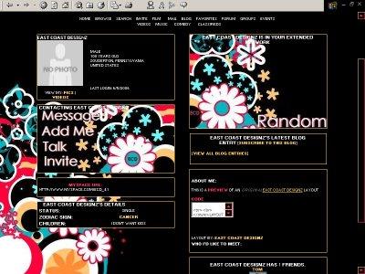 Random Myspace Layout