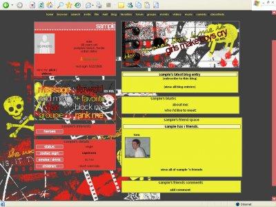 Mayday Parade Myspace Layout