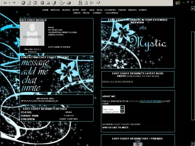 (_.���`�׻. Mystic Myspace Layout