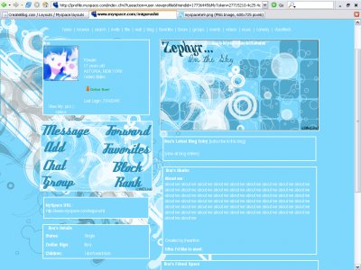 Zephyr-Revised Myspace Layout