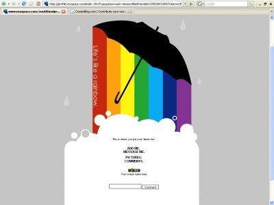 Life's Like a Rainbow (Div) Myspace Layout