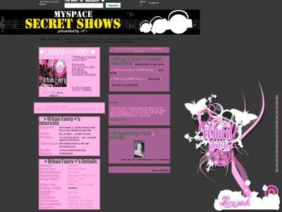 Love.Pink Myspace Layout