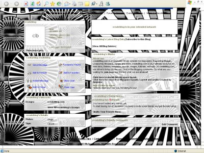 Black and White Wheels Myspace Layout