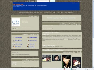 Vintage Myspace Layout
