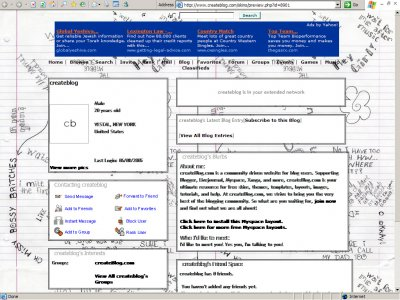 Notes Myspace Layout