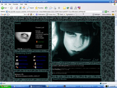 Forever Lost:  Vincent Valentine Myspace Layout