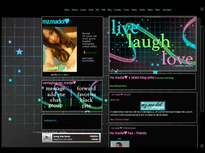 Live Laugh Love Myspace Layout