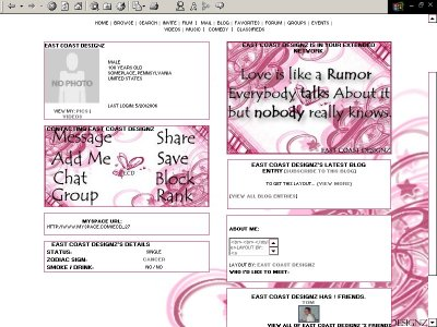 No One Really Knows... Myspace Layout