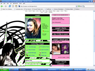 Thinking about us... Myspace Layout