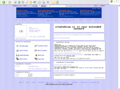 Purple stripes Myspace Layout