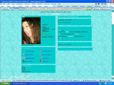 Teal Victorian Myspace Layout