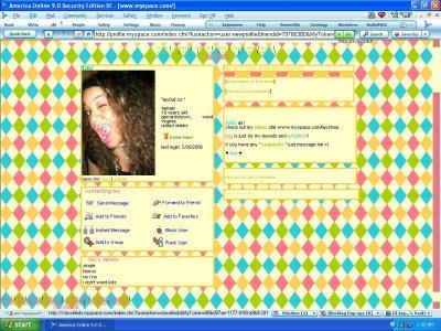 Colorful Diamonds Myspace Layout