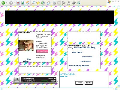 COLORED LIGHTNING Myspace Layout
