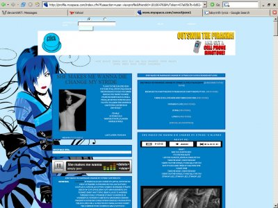 Ice Princess Myspace Layout