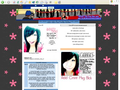 Animated default. ;D Myspace Layout