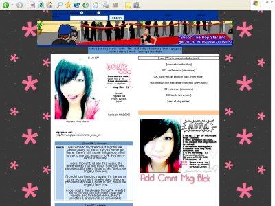 Animated default. ;D Myspace Layout