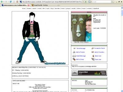 Emo Boy Myspace Layout