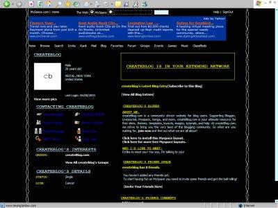 Black Grunge Border Myspace Layout