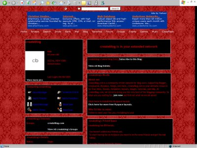 Antique red. Myspace Layout
