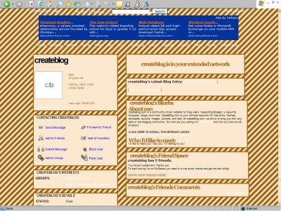 Yellow & Brown Stripes Myspace Layout
