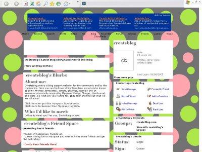 Polka dots Myspace Layout