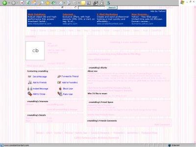 Retro Pink Myspace Layout