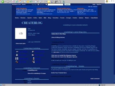 Blueberry Candy Myspace Layout