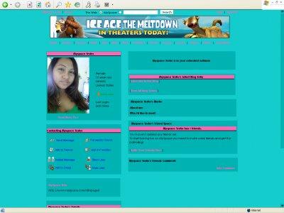 Minty Pink Myspace Layout