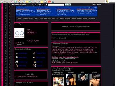 Random Pinkness Myspace Layout - CoolSpaceTricks com