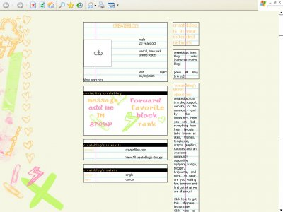 Notebook Myspace Layout