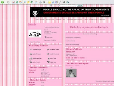 Pinkishly Pink Myspace Layout