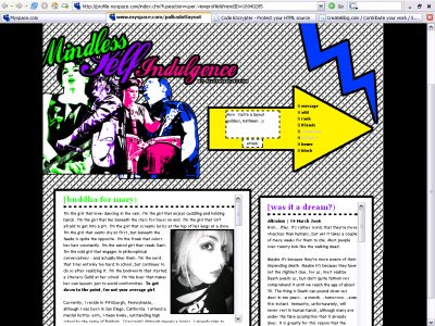 Mindless Self Indulgence Myspace Layout