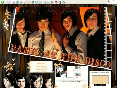 Panic! At The Disco: DIV Myspace Layout