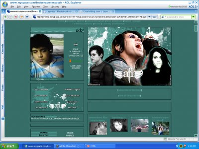 Davey Havok:Retrospective Myspace Layout